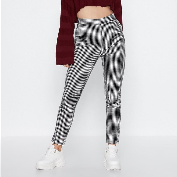 Nasty Gal Pants - Nasty Gal Make It Fair Gingham Pants XS